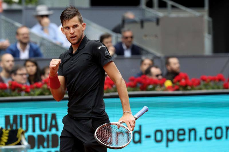 Dominic Thiem celebra su pase a la final del Mutua Madrid Open./EFE