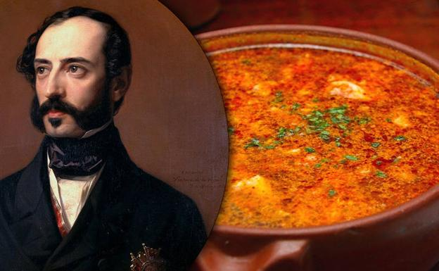 Retrato de Ventura de la Vega (Wikimedia Commons CC-PD) y sopas de ajo (Flickr, CC BY2.0)/