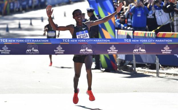 El etíope Lelisa Desisa gana la maratón masculina de Nueva