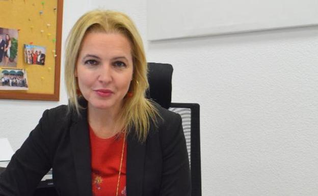 Beatriz Domínguez-Gil, en su despacho de la ONT, en Madrid, esta misma semana. / NEWSPHOTOPRESS
