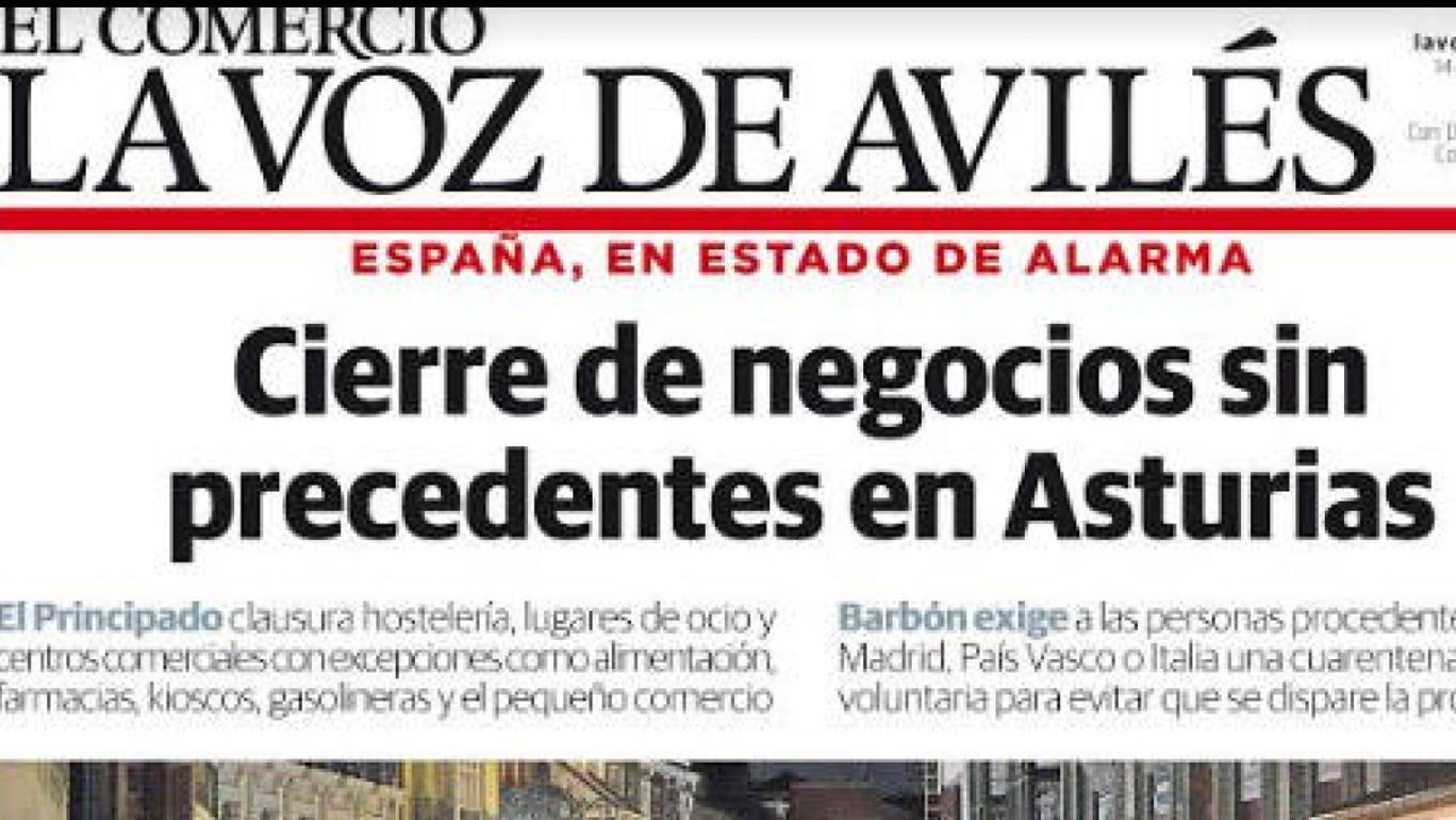 La Voz De Avilés Mantiene Su Compromiso Con Los Lectores Y Distribuye Mañana Su Edición Impresa El Comercio